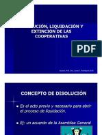 Disolucion, Liquidacion y Extincion de Las Coope