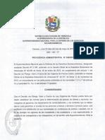 Providencia Administrativa 046 2016 sobre nuevos precios de la Harina (Sundde)