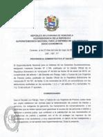 Providencia Administrativa 044-2016 que fija nuevos precios sobre Alimento Balanceado para Animales (Sundde)
