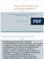 La Historia y Filosofía de La Educación en Mexico