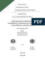 BOLETIN N° 042- GEOLOGIA DE LA CORDILLERA OCCIDENTAL Y ANTIPLANO