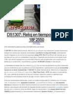 DS1307 Reloj en Tiempo Real Con 18F2550