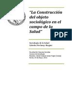 Tapia a. - La Construccion Del Objeto Sociológico en El Campo de La Salud