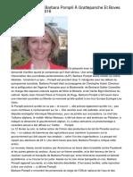 Visite Officielle De Barbara Pompili À Grattepanche Et Boves Le Lundi 18 Avril 2016