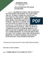 Church Readings 2010