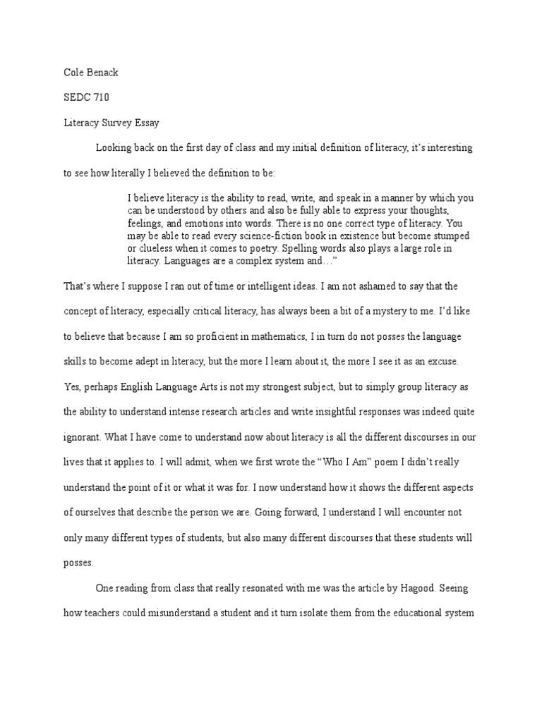 survey essay