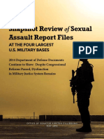 May 2016 Military Sexual Assault Report