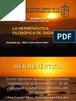La Hermenéutica Filosófica de Gadamer