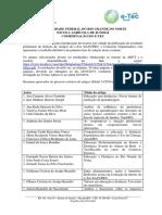 E-TEC - Edital 13-2014 (Resultado Final - Primeira Fase) (1)