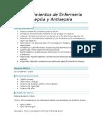 Procedimientos de Enfermeria Asepsia y Antisepsia