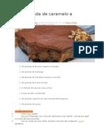 Torta Gelada de Caramelo e Chocolate