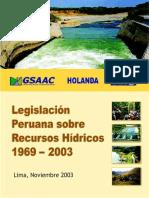 Legislación Peruana Sobre Recursos Hídricos