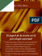 PRESENTACION PSICOPATOLOGIA