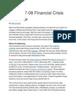 BA 221 Reading No. 2 - Subprime Crisis