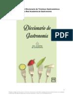 100 Primeros Términos Del Diccionario de La Real Academia de Gastronomía