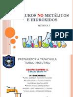 Hidruros No Metálicos e Hidróxidos.