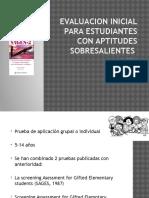 evaluacioninicialparaestudiantesconaptitudessobresalientes-120211130820-phpapp01