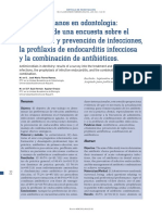 Antimicrobianos en Odontología - Resultados de Una Encuesta Sobre El Tratamiento y Prevención de Infecciones.