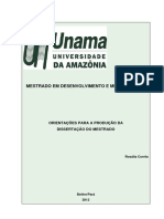 Orientações Dissertação de Mestrado