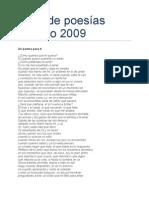 poesías del año 2009