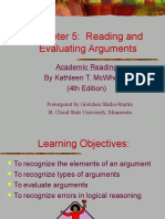 Chapter 5 Evaluating Arguments