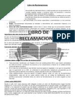 Características Del Libro de Reclamaciones