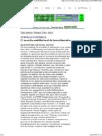 O Acordo Multilateral de Investimentos_Boaventura de Sousa Santos