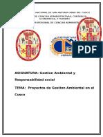 Proyectos de Gestion Ambiental en el Cusco