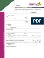 Application Form New Schools