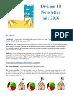 division 18 june 2016 newsletter