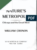 Cronon, W. 1991. Nature's Metropolis