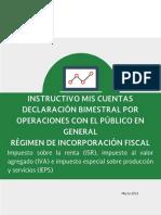 Instructivo MisCuentas Bimestral Operaciones Publico General