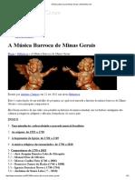 A Música Barroca de Minas Gerais