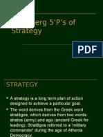 Mintzberg's 5 P's of Strategy