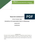 TAREA SEMANA 6 DESARROLLO DE HABILIDADES PARA EL APRENDIZAJE