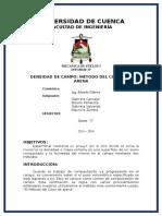 Determinacion de Peso Especifico de Campo Despues de Compactacion
