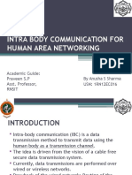 Intrabody communication using human area networking