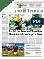 La Gazzetta dello Sport 24-06-2016 - Scandalo Scommesse Pag.1