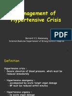 Management of Hypertensive Crisis(diskusi RSUD).ppt
