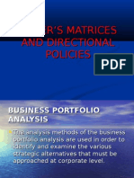 HOFER'S MATRICES AND DIRECTIONAL POLICIES