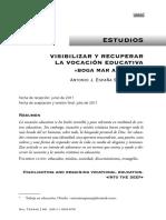 Espana a. Visibilizar Vocacion Educativa 2011