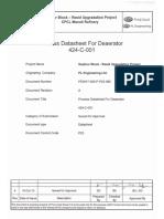 Process Datasheet for Deaerator