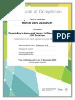 ran 2015 refresher certificate