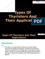 Different Types of Thyristors and Their Applications