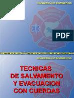 Tecnicas de Salvamento y Evacuacion Con Cuerdas