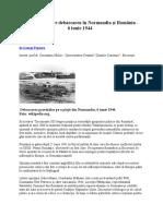 Legatura Dintre Debarcarea in Normandia Si Romania