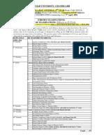 Date Sheet 2016