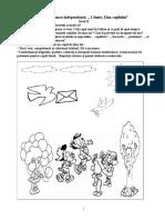 Fisa de Munca Independenta- Proiect Tematic - 1 Iunie-Nivel II