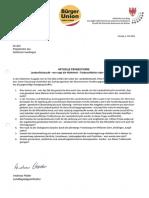 Fischzucht Marmorierte Forelle Anfrage & Antwort - L.Abg. Andreas Pöder BürgerUnion