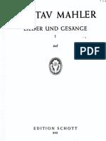 Gustav Mahler. Lieder. 3 Vols.
